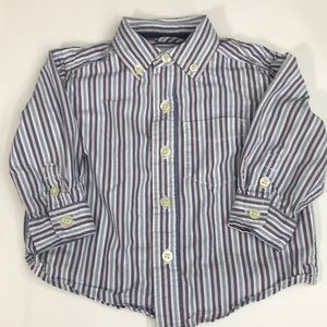 5/$25 CHILDRENS PLACE Button Down Shirt Size 12M